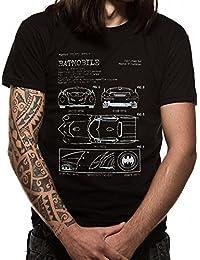 Batman Men's Batmobile Blueprint T-Shirt