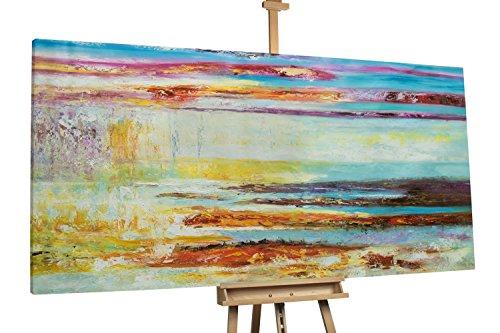 'Abendbucht' 200x100cm | Abstrakt Bunt Deko | Modernes Kunst Ölbild