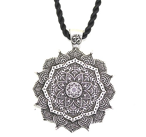 Collar colgante amuleto flor mandala/Geometría Sagrada/Lotus OM Budista Yoga Zen/regalo original