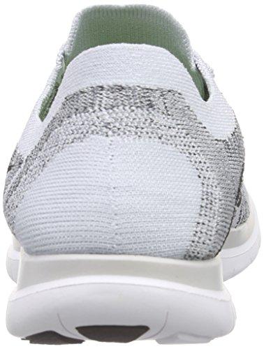 Nike Free 4.0 Flyknit Herren Laufschuhe Silberfarben / Schwarz / Weiß (Pure Platinum / Blk-White-Cl Gry)