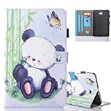 "Aeeque Galaxy Tab A6 10.1 Lovely Animal Panda Pattern and Premium PU Leather Flip Magnetic Cover Tablet Stand Protective Case for Samsung Galaxy Tab A 10.1"" (2016) SM-T580/T585"