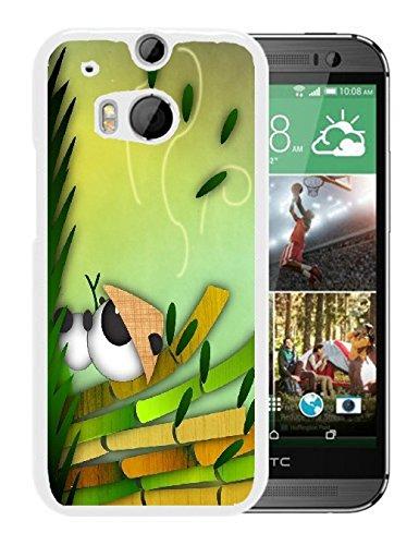JiorJfe Custom HTC_one_m8 Case,Panda Hard Plastic Hard Case for HTC_one_m8 Htc Panda