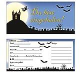 Einladungskarten Halloween Gruselparty im Geisterschloß 1556