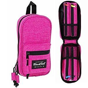 Blackfit8-Blackfit8-Plumier Mochila con 4 portatodos, Color Rosa, 23 cm (SAFTA 441732847)