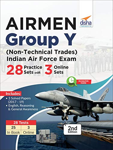 Airmen Group Y (Non-Technical Trades) Indian Air Force Exam 28 Practice Sets with 3 Online Sets 2nd Edition