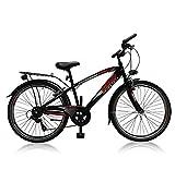 "24"" 24 Zoll City Fahrrad Bike Rad KINDERFAHRRAD CITYFAHRRAD 6 Gang MAXX Schwarzrot"