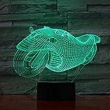 Led Nachtlichter 3D Neuartige 3D Lampe Motorrad Bike Motorrad Weihnachtsbeleuchtung Acryl Illusion 7 Farben Touch Für Freunde Kinder Geburtstag Gifast Toys7 Farben Berührungsschalter