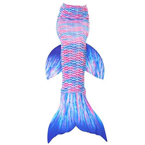 ZEVONDA Mädchen Erwachsene Schwimmflosse Kinder Schwimmen Meerjungfrauenschwanz, Stil-5, L