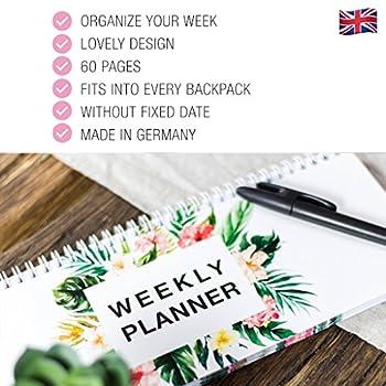 FlamingoKalender Wochenkalender Planer WeeklyPlanner Schulkalender Haushaltsplaner To Do GeschenkZumMuttertag Made In Germany Tischkalender2018 GeschenkFür Mama Grundschule (Flamingo) 8