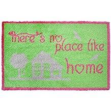 Alfombrilla LifeStyle 200298 Like Home, felpudo antideslizante y lavable, ideal para la entrada, el armario o la cocina, 40 x 60 cm, verde / rosa