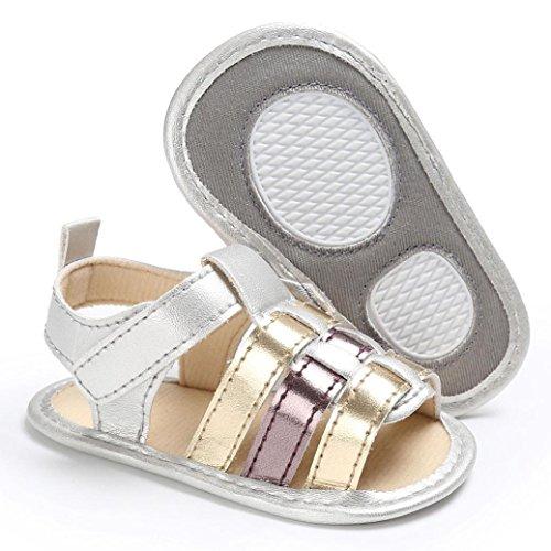 BZLine® Baby kleinkind mädchen Soft Sole Krippe newborn Sandalen Gold