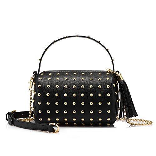 Borse donna borsa tracolla piccolo borsetta donna ragazza borsa a mano sacchetta a spalla mini nero