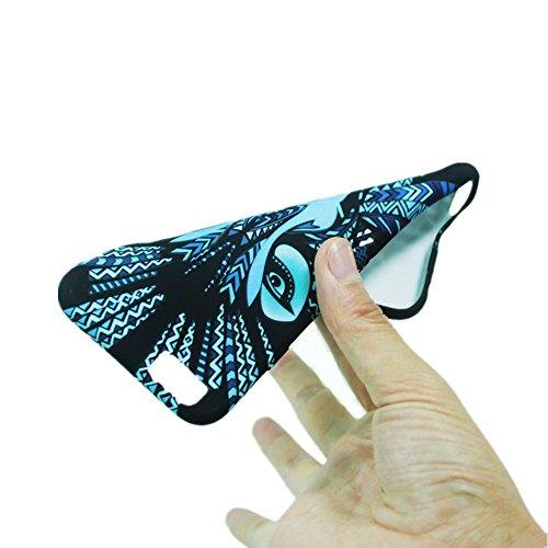 Jinberry Colorate Matte Custodia Luminosa Protettiva in TPU Morbida per iPhone 7 (4.7) Dipinto Ultrasottile Case Back Cover Nottilucenti per Apple iPhone 7 - Coniglio Rinoceronte