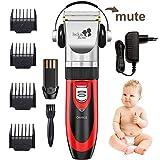 PROMOTION Jack & Rose Tondeuse Cheveux rechargeable et professionnelle sans fil avec 7 Accessoires pour Enfant Adulte Famille Salon de coiffure 3 Couleurs Rouge