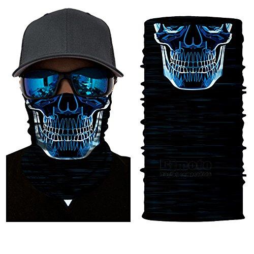 BJ Global - Bandana multiusos para hombre y mujer, para deportes al aire libre y ciclismo. Máscara, turbante mágico, diadema y bufanda para uso con motocicletas y bicicletas.