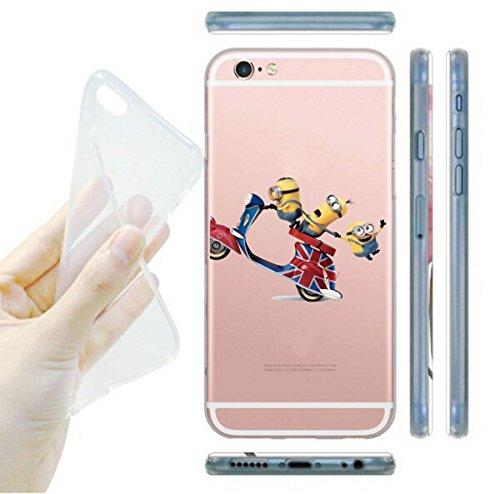 Coque iPhone 6s / Minions couvercle de gel de bande dessinée pour Apple iPhone 6s 6 / protecteur d'écran et écran chiffon par iCHOOSE / ours prise Vespa