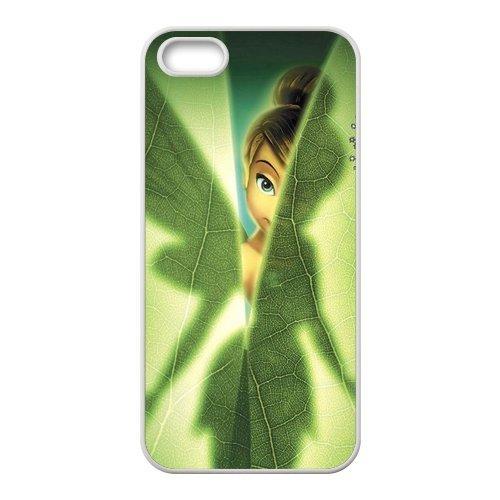 Apple iPhone 5/iPhone 5S Case Coque de protection Case-Tinker Bell TPU Étui Coque de Protection pour iPhone 55S (Blanc/Noir)
