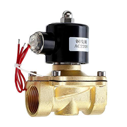 DyNamic 1/2 3/4 1 Zoll 220 V Elektrisches Magnetventil Pneumatisches Ventil für Wasser Luft Gas Messing Ventil Luft Ventile-1 / 2inch