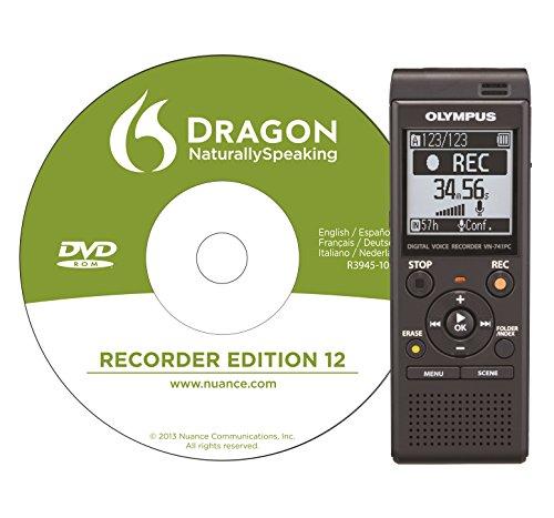Preisvergleich Produktbild Olympus VN-741 DNS Diktiergerät, inklusive Spracherkennungs-Software 4 GB Speicher, USB-Anschluss