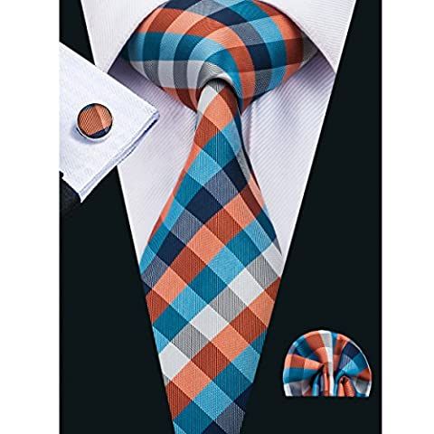 Hi-Tie - Cravate - Homme orange orange purple taille unique