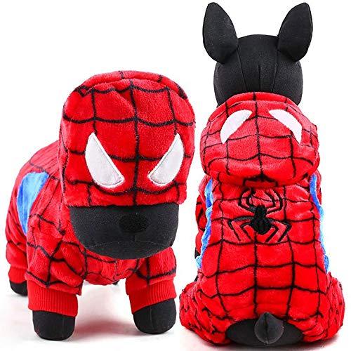 TYJY Niedlichen Kleinen Hund Kostüm Halloween Haustier Hund Kleidung Winter Warme Cosplay Totoro Yorkies Chihuahua Yorkshire Terrier Bekleidung, L