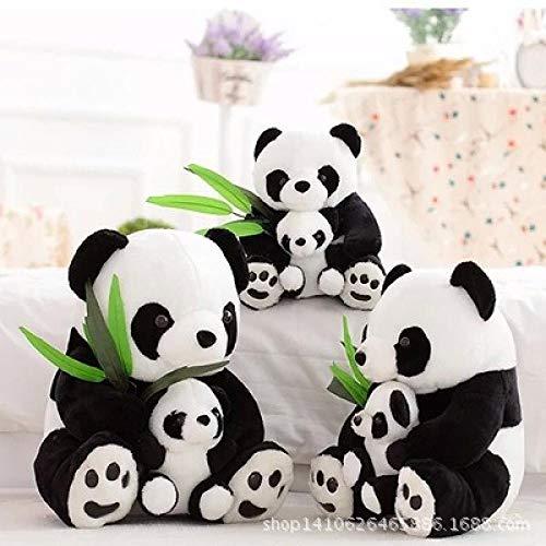YYYDHW Muñeca Panda, Juguete de Peluche, muñeca Panda, muñeca, Kung Fu, Día del niño.@ Contiene Hojas de bambú_22 cm