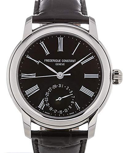 Frederique Constant orologio da uomo, colore: Nero (modello: 'Classics fabbricazione' automatico in acciaio INOX e pelle casual fc-710mb4h6)