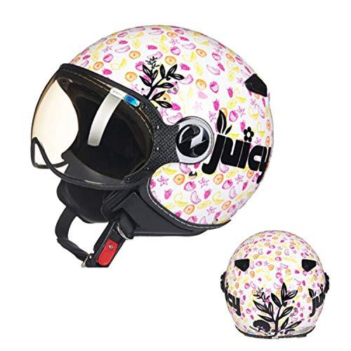 YLee Motorradhelm/Harley-Anti-Kollisions-Persönlichkeit Vier Jahreszeiten Harley-Halbhelm DOT-Zertifizierung/Flip-Sonnenblende eingebaute Schutzbrille,Pink,XL (Pink Harley-davidson Hat)