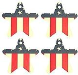 Eclectic Lady Set von vier usa-flagge kamille luftverbesserer star