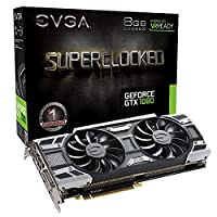 EVGA GeForce GTX 1080 SC GAMING ACX 3.0, 8GB GDDR5X, LED, DX12 OSD Support (PXOC) Graphics Card 08G-P4-6183-KR