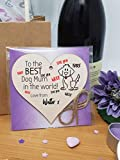 The Plum Penguin Personalised Handmade Wooden Hanging Heart Plaque great for dog lovers dog mums pet keepsake