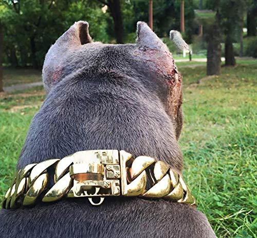 WXJHA Haustier Hund Metallkragen-Choke-Ketten-Halskette Hundehals Seil, Edelstahl-Kragen-Halskette Haustier Hund Choke Kragen-Charme-Zubehör,XXL -