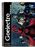 #2: Goelectro Plain Spiral Notebook - A4, Soft Cover, 75GSM , 250 Pages, Unruled (DeadPool)
