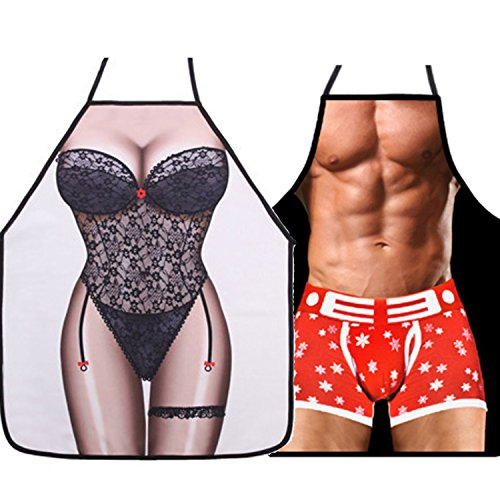 �rze - lustiges Geschenke für Frauen und Männer | Kreative BBQ Schürze, Grillschürze, Kochschürz im 2 Pack ()