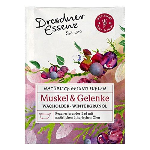 """5er Pack Dresdner Essenz Gesundheitsbad """"Muskel & Gelenke"""" 5 x 60 g, Wachholder-Wintergrünöl"""