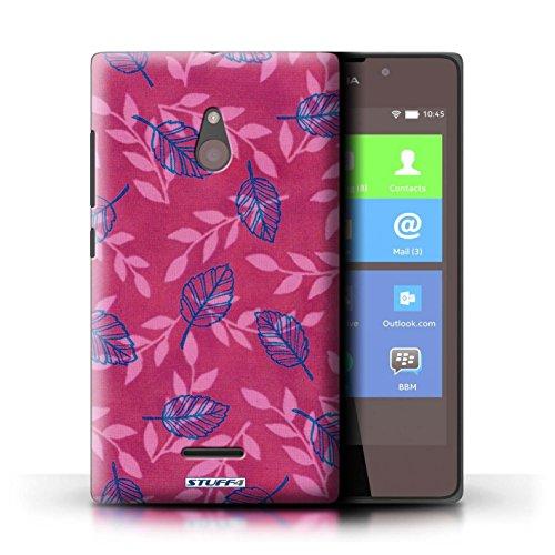 Kobalt® Imprimé Etui / Coque pour Nokia XL / Pourpre/Bleu conception / Série Motif Feuille/Branche Rose/Bleu