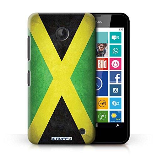 Kobalt® Imprimé Etui / Coque pour Nokia Lumia 635 / Allemagne/allemand conception / Série Drapeau Jamaïque/jamaïcain