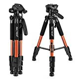 Camera Tripod Lightweight Portable Travel Tripod Aluminum Camcorder Stand MACTREM 55-Inch with Bag