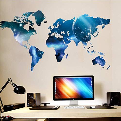 ue Stern Lutscher Weltkarte Gast Schlafzimmer Hintergrund Wandaufkleber Großhandel Home Furnishing Aufkleber ()