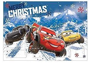 Undercover CAADW8023 Lightning McQueen, Hook, Jackson Storm, Cruz Ramirez, Doc Hudson Calendario de Adviento para niños con 24 sorpresas de papelería, diseño de Cars de Disney Pixar, aprox. 45 x 32 x 3 cm, multicolor