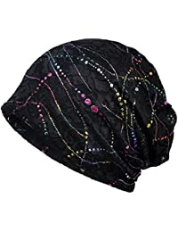 cde80e2cb7f Women s Chemo Hat Stripe Beanie Hat Cotton Soft Turban Headwear Head Wraps