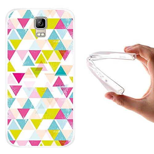 WoowCase Umi Rome Hülle, Handyhülle Silikon für [ Umi Rome ] Geometrische Formeln Dreieck Handytasche Handy Cover Case Schutzhülle Flexible TPU - Transparent