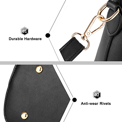 Borse a tracolla Yoome Crossbody borsa a tracolla borsa borsa borsa da trucco borse da trucco borse casual - rosa Nero