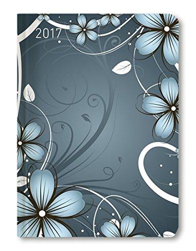 Preisvergleich Produktbild Ladytimer Blue Blossoms 2017 - Taschenplaner / Taschenkalender A6 - Weekly - 192 Seiten