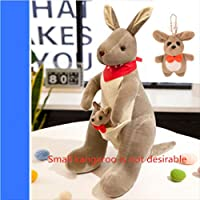 Cute Australian Kangaroo Plush Toy Doll Doll Baby Mother Child Gift Kangaroo No.4: 28Cm High Light Grey Red Scarf (Small Kangaroo Not Desirable)