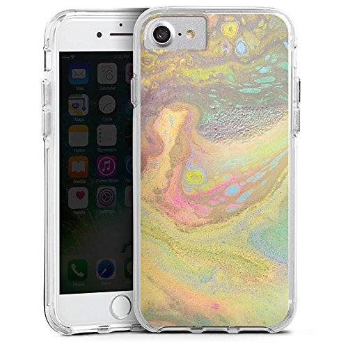 Apple iPhone 6 Plus Bumper Hülle Bumper Case Schutzhülle Perlmutt Muster Wasserfarbe Bumper Case transparent