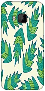 Snoogg A Seamless Leaf Pattern Designer Protective Back Case Cover For HTC M9