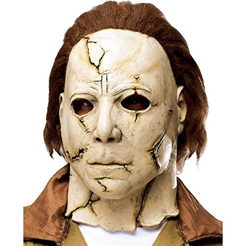 (Authentisch aussehende Latex Maske Michael Myers Horror Halloween Narben Killer)