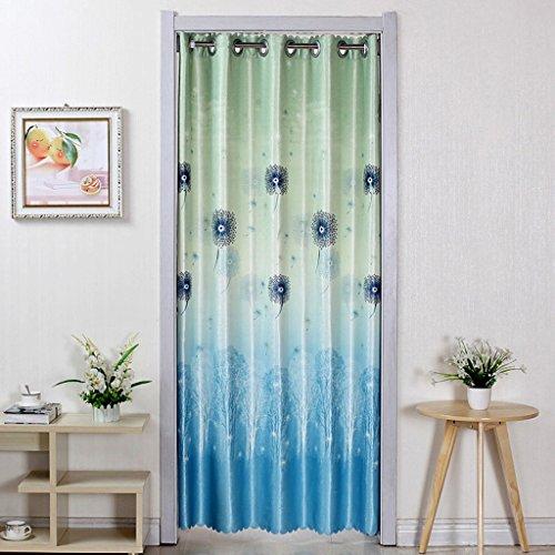 Liuyu · Maison de Vie Porte Rideau Tissu Recto-Verso Ménage Rideau Cuisine Salle de Bains Pièce Détachée Coupé Air Conditionné (Couleur : Bleu, Taille : 190 * 250cm)