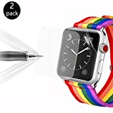 [2 Stücke]Apple Watch 38MM Schutzfolie, Bandmax Premium Displayschutzfolie Weich TPU Ultra HD...